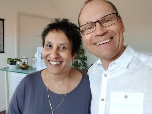Olaf Frank with Rachel Rodrigues